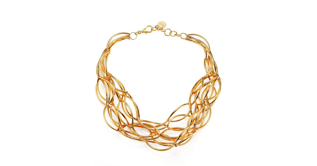 Lyst - Nest Twisted Collar Necklace in Metallic