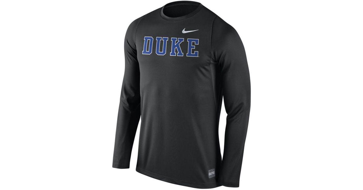 Nike Men 39 S Long Sleeve Duke Blue Devils Elite Basketball