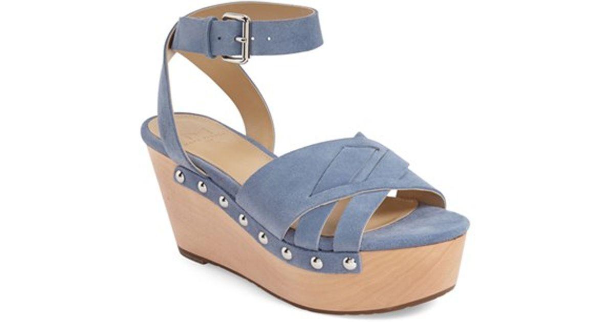 9b2d54bfdf8 Marc Fisher - Blue 'camilla' Wedge Sandal - Lyst