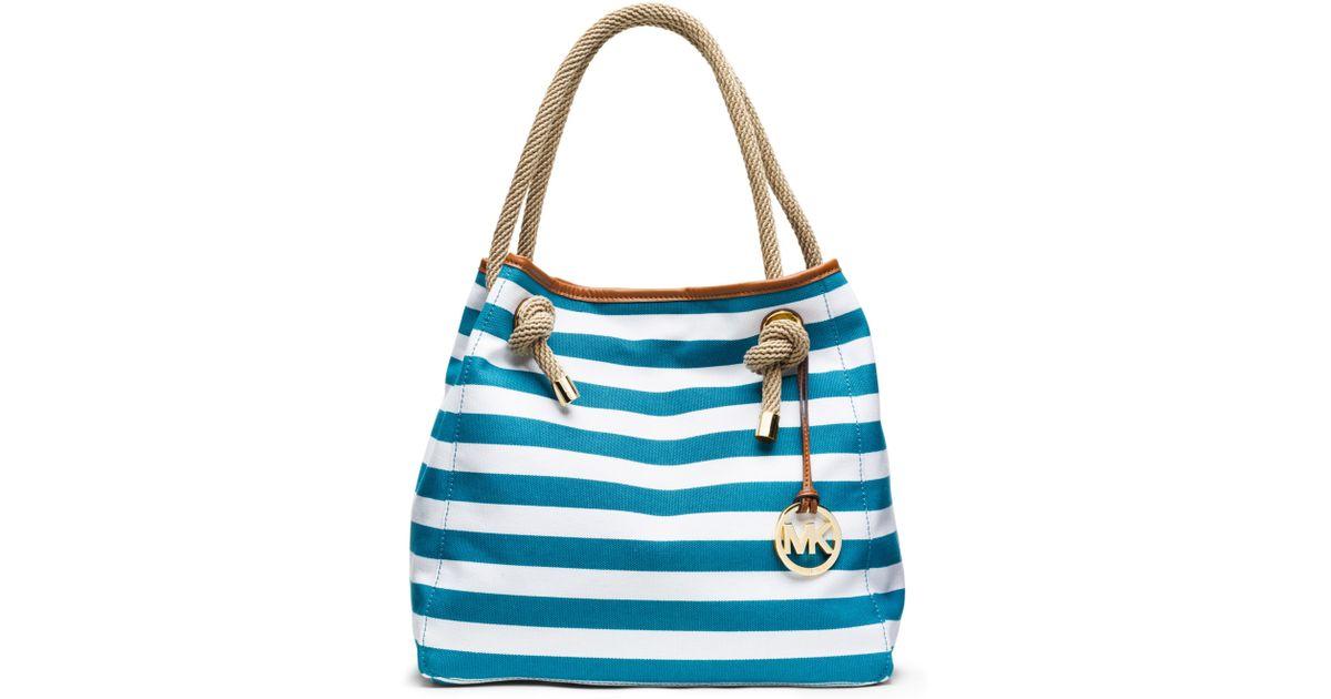 bebf877fe9f Michael Kors Michael Marina Large Grab Bag in Blue - Lyst