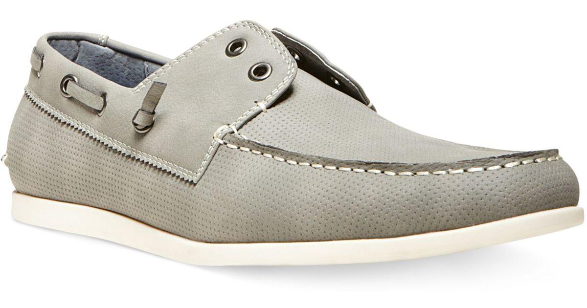 c1d77e906ef Steve Madden Gray Madden Game On Boat Shoes for men