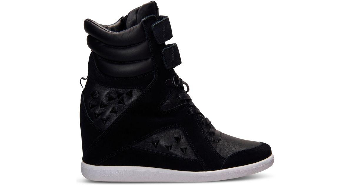 Lyst - Reebok Women S Alicia Keys Wedge Casual Sneakers From Finish Line in  Black 171868906