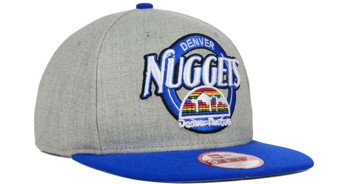 new product af96e ed752 Lyst - KTZ Denver Nuggets Hwc Custom Closer 9fifty Snapback Cap in Gray for  Men