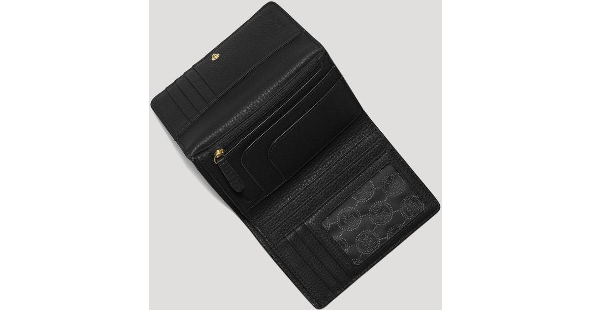 dfd1e9841dd7 Lyst - MICHAEL Michael Kors Wallet - Fulton Medium Tri-Fold in Black