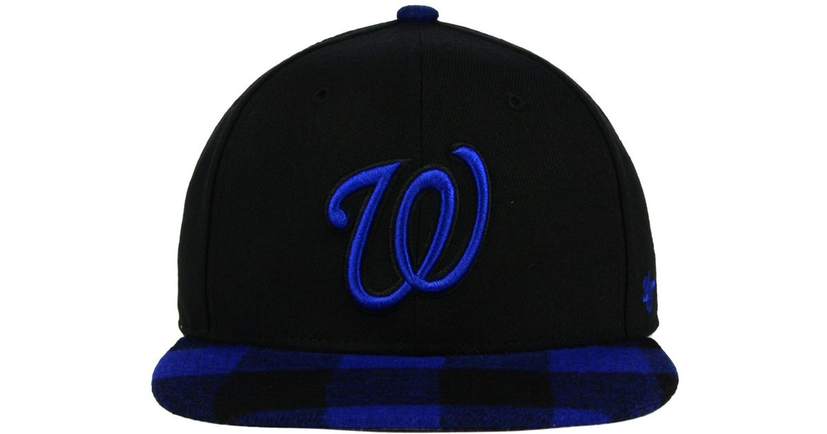 Lyst - 47 Brand Washington Nationals Charter Snapback Cap in Black for Men a3693a61155