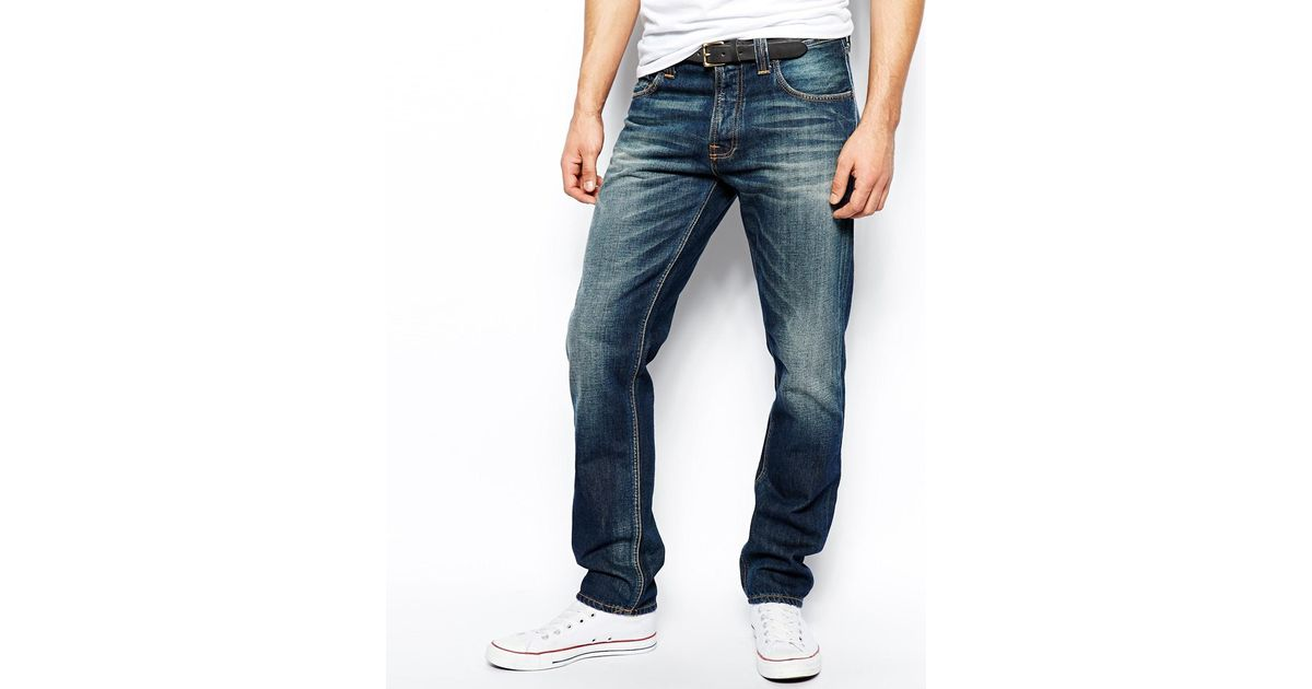 Nudie Jeans Co Steady Eddie Organic Whistle Blue Jeans blue