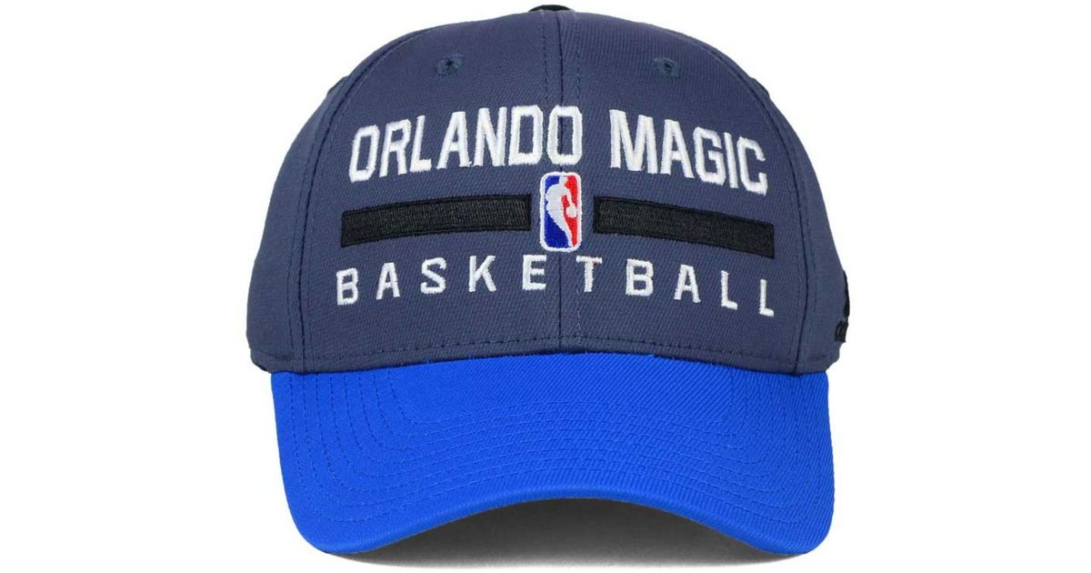 db89a6862 Lyst - Adidas Orlando Magic Practice Flex Cap in Gray for Men