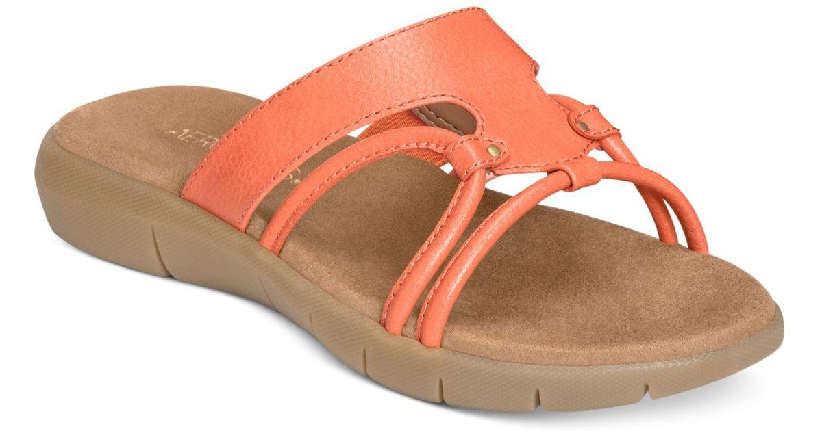 0af8e5f971f2 Lyst - Aerosoles Wip Away Flat Sandals in Pink