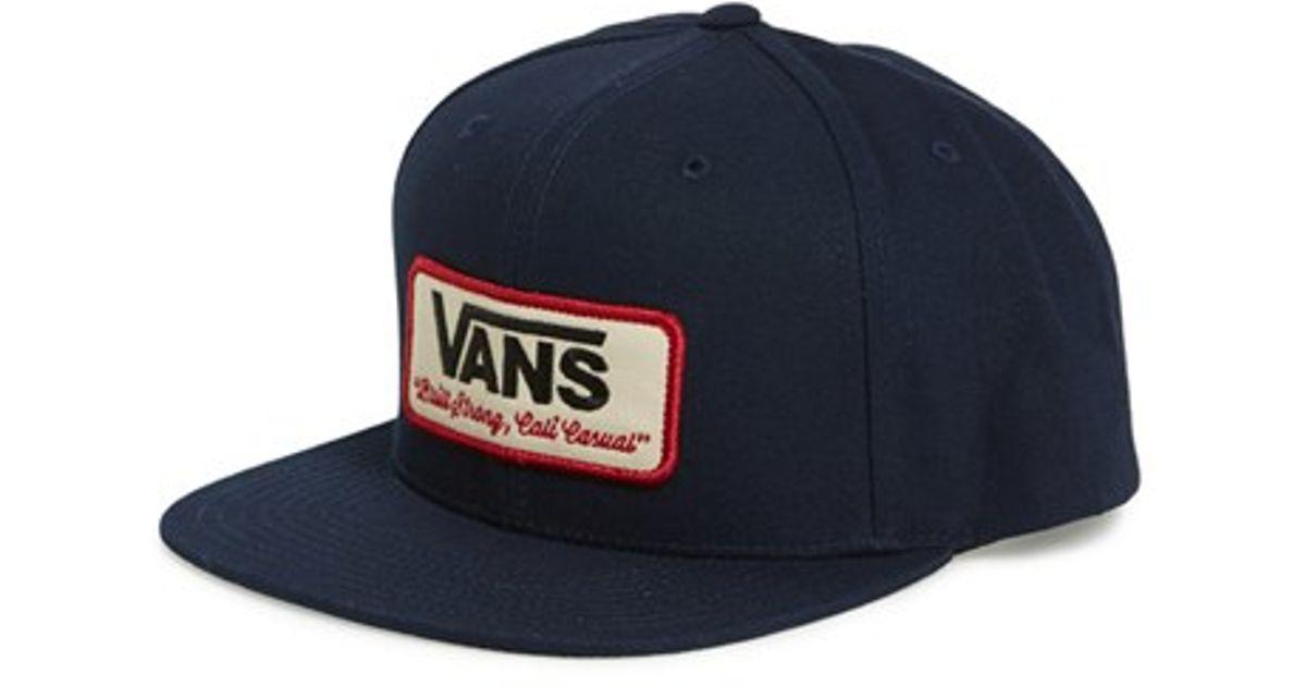 92b957ee Vans Blue 'rowley' Snapback Hat for men