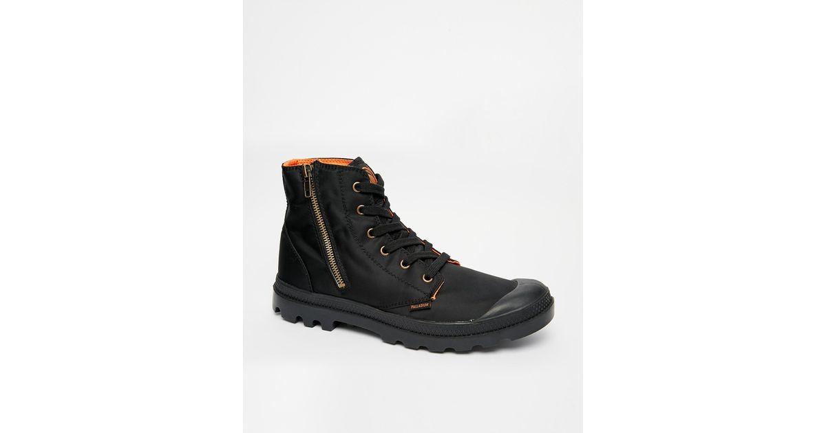 Palladium Black X Alpha Industries Nylon Ma 1 Boots for men