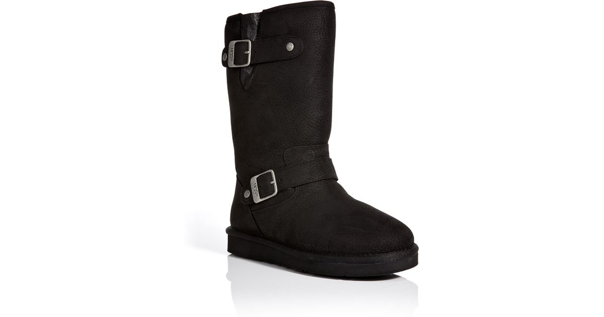 cc09b541db8 UGG Black Sutter Leather Boots