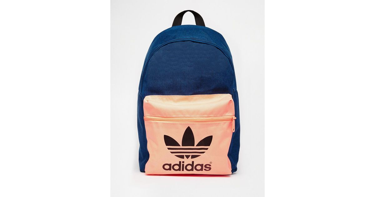 3da960748e Lyst - adidas Originals Originals Navy Backpack With Contrast Front Pocket  in Blue