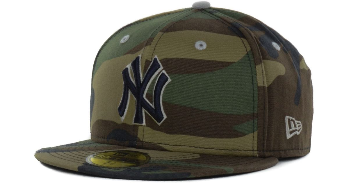 bf7bf40b63f ... official store lyst ktz new york yankees mlb camo pop 59fifty cap in  green for men