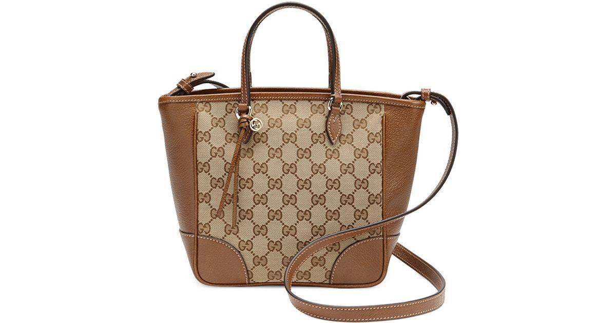 e2cbe8f40b Gucci Brown Bree Small Gg Canvas Tote Bag