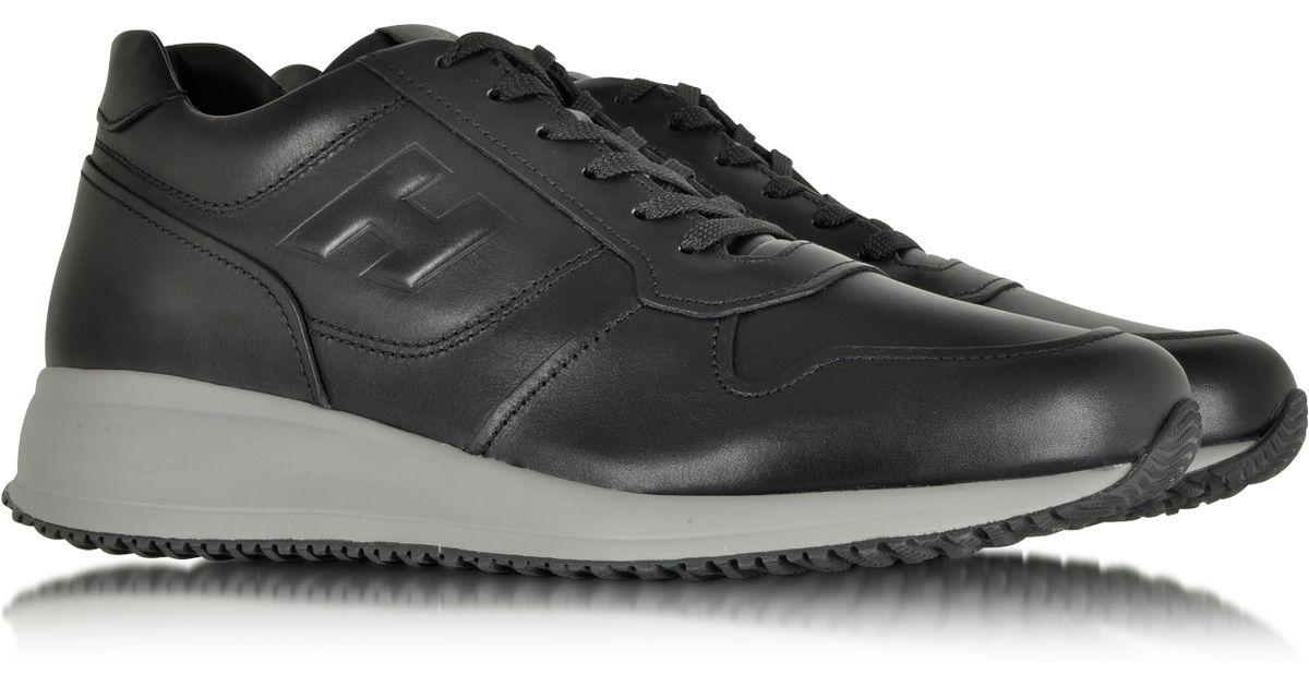 84b6658d53 Hogan Interactive N20 Black Leather Sneaker in Black for Men - Lyst