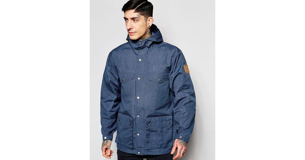 huge discount 89463 576e0 Fjallraven Blue Greenland Jacket With Hood for men
