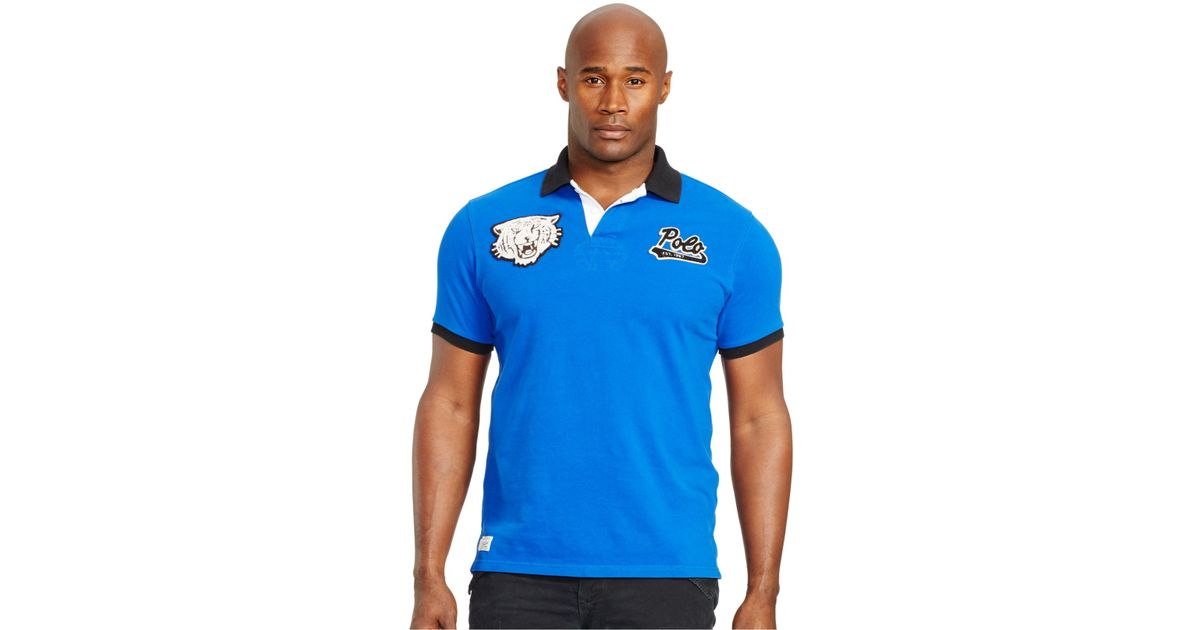 e29a845c2 Polo Ralph Lauren Big And Tall Classic-fit Tiger-head Polo Shirt in Blue  for Men - Lyst