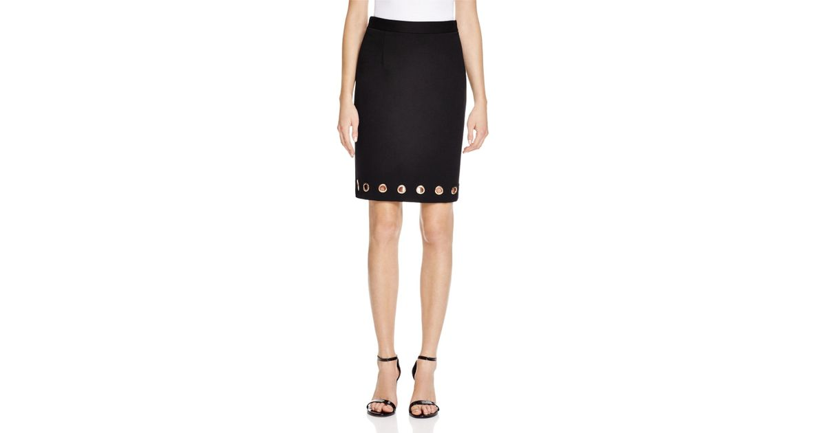 b85b93caef Catherine Malandrino Grommet Pencil Skirt - Compare At $68 in Black - Lyst