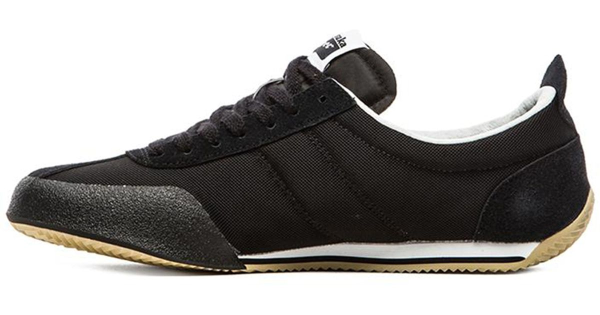 timeless design be40a 6fde0 Onitsuka Tiger Black Fencing Leather Sneakers for men