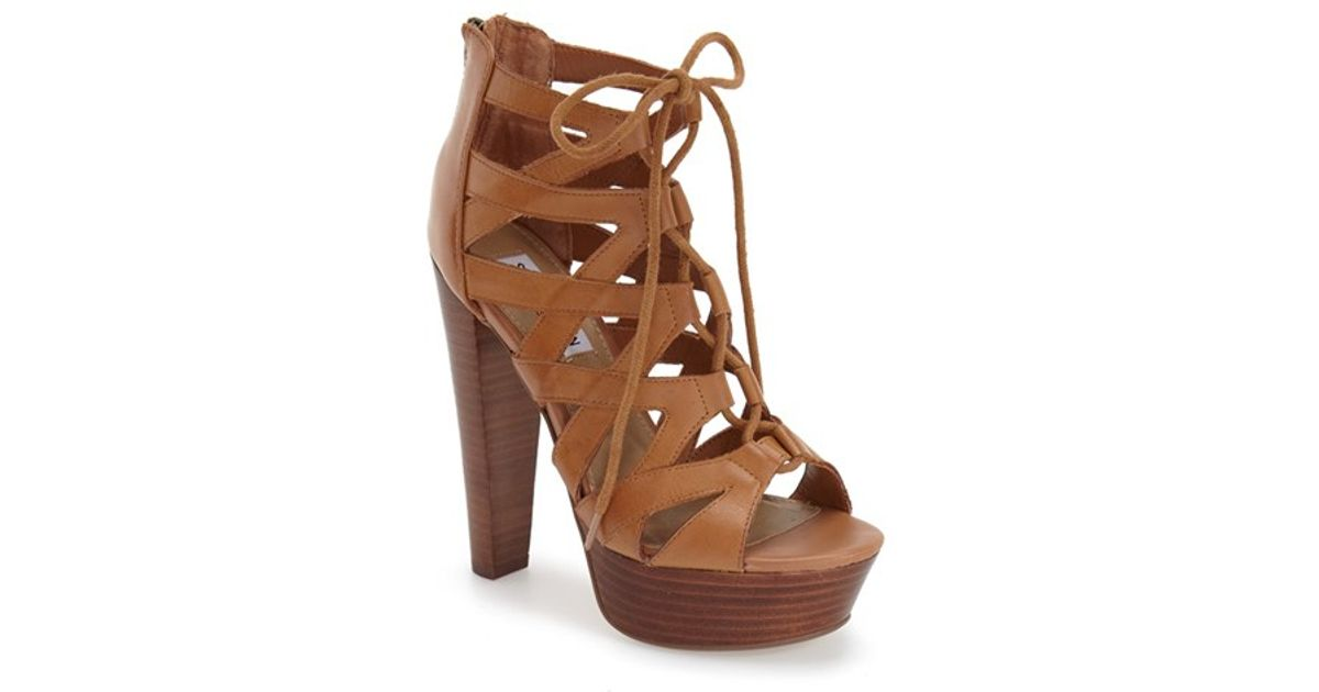 5dbf1230424 Steve Madden Brown 'dreamgirl' Lace-up Sandal
