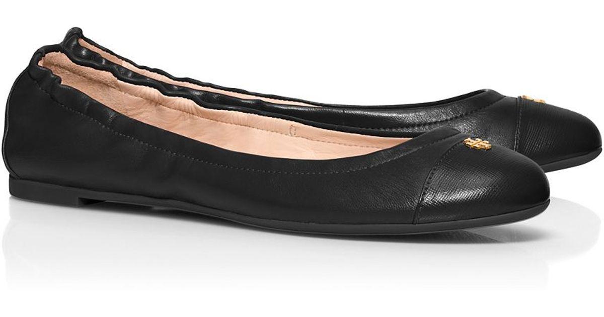126962892 Lyst - Tory Burch York Ballet Flat in Black