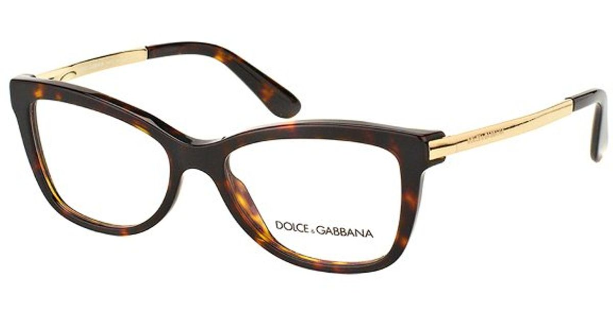 Lyst - Dolce & Gabbana Dolce And Gabbana Dg 3218 502 Havana Square ...