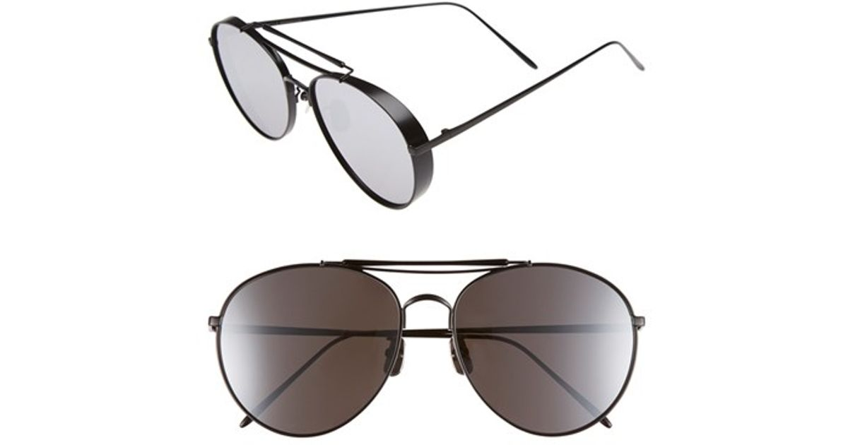 52a9d9ecb6 Lyst - Gentle Monster 60mm Aviator Sunglasses in Black