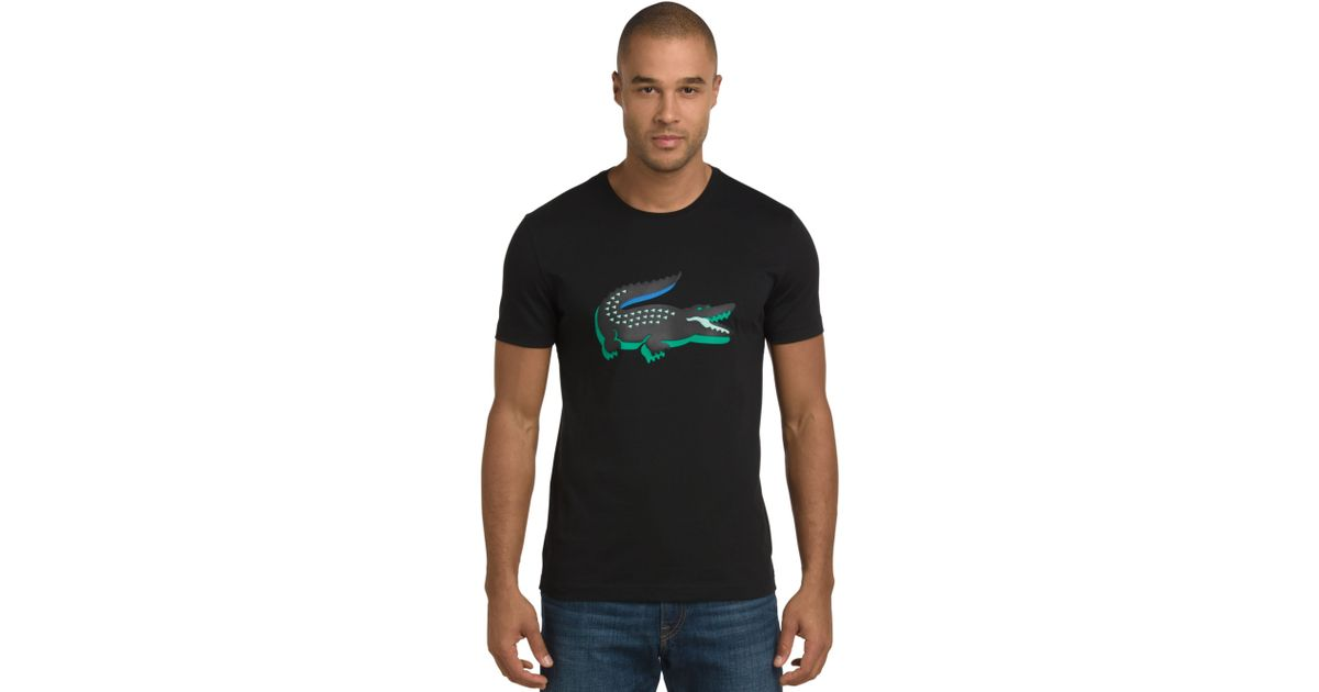 b4d61cbefc Lacoste Green 3d Rubber Crocodile Graphic T-Shirt for men