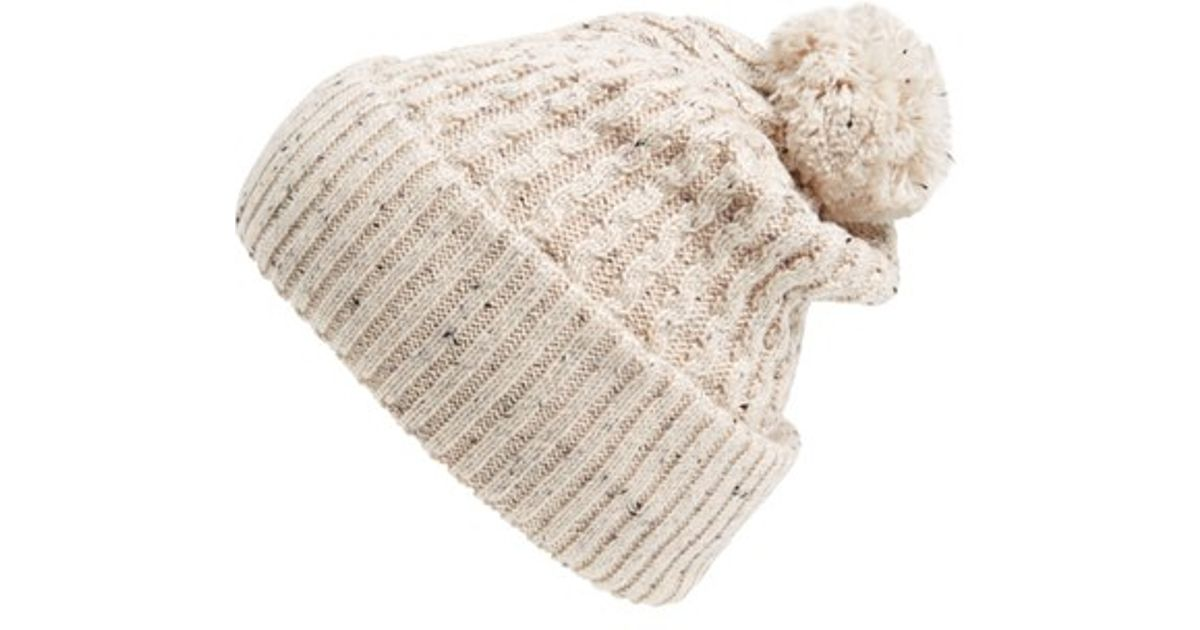10fc767554a Lyst - Topman Nep Bobble Beanie in Natural for Men