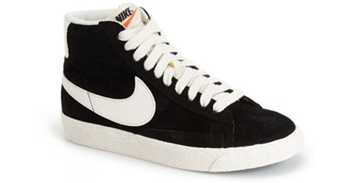 check out e2c1d 9d659 Nike Black 'blazer' Vintage High Top Basketball Sneaker