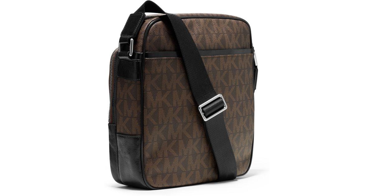 Michael Kors Brown Mens Large Jet Set Flight Bag For Men