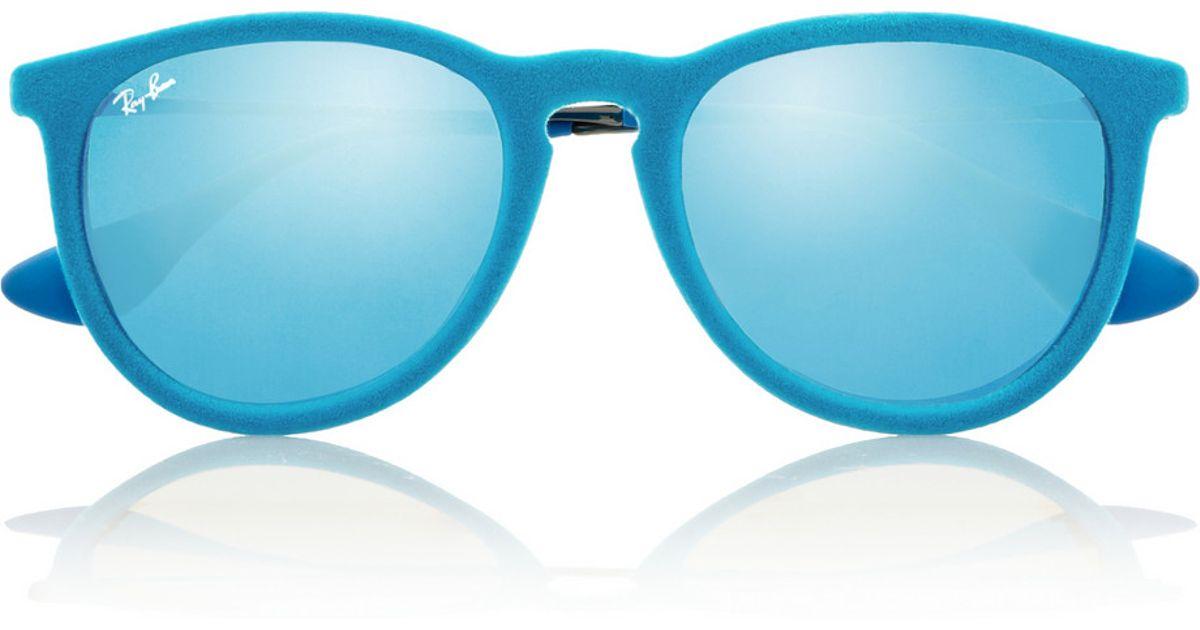 e0ca96ef80 Ray-Ban Erika Velvet Mirrored Sunglasses in Blue - Lyst