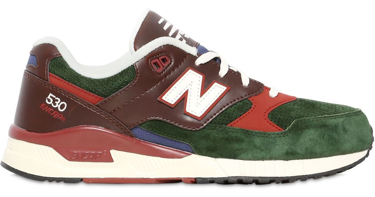 new balance leather green