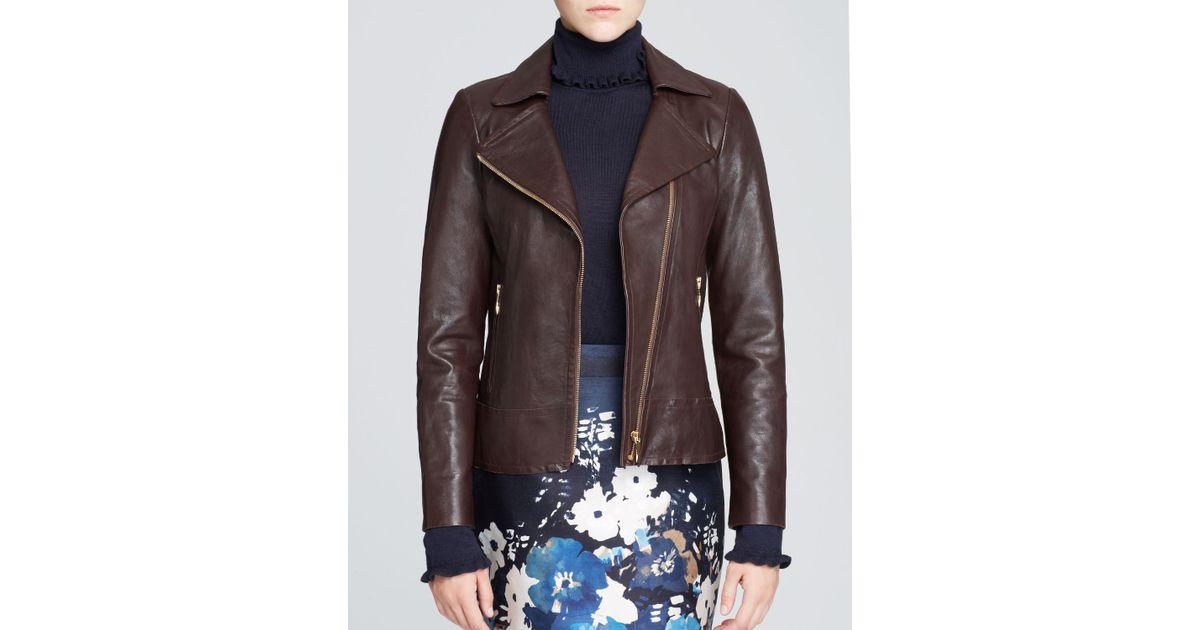 79cf4715e kate spade new york Brown Linnea Leather Moto Jacket