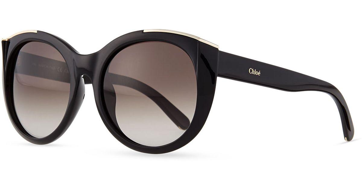round eyeglasses - Black Chlo xlnQFbl6er