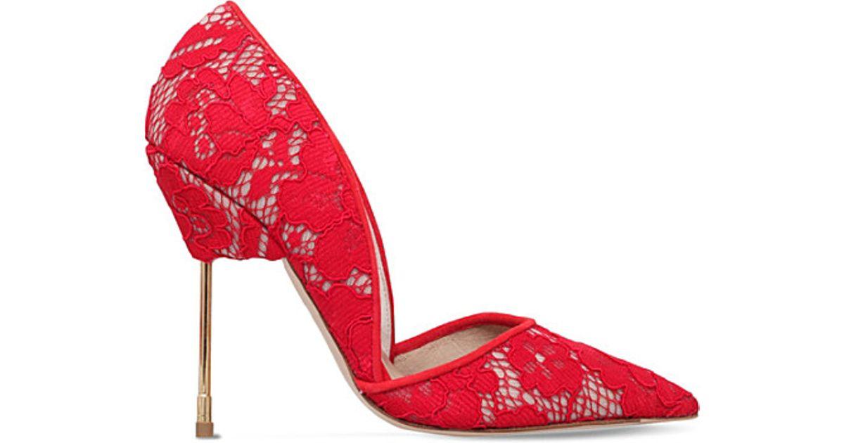 Kurt Geiger Britton - red high heel court shoes Buy Cheap Outlet Best Buy Ab6PmZ