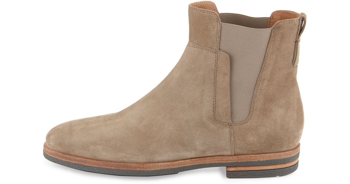 Vince Mens Suede Chelsea Boot in Light