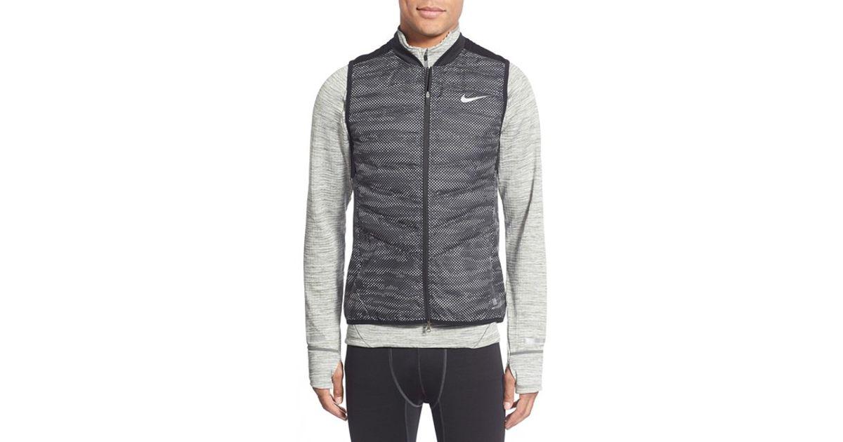 4bc00cb87 Nike Black 'aeroloft Flash' Zip Front Training Vest for men