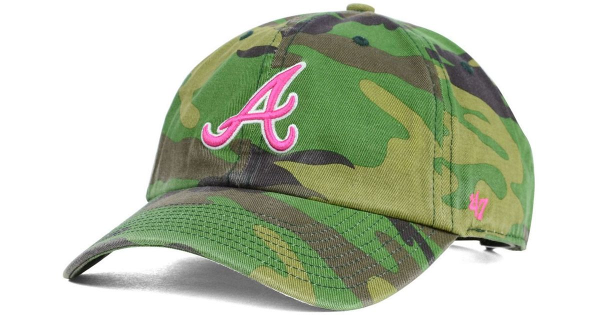 35ecd278b9d ... york yankees new era mlb team 9forty hat in pink 43798 36085  coupon  code for lyst 47 brand womens atlanta braves clean up cap in green 8c0dd  890d9