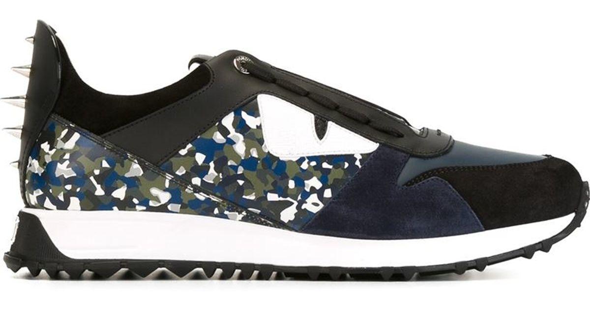 5ee016f812 Lyst - Fendi Bag Bugs Sneakers in Blue for Men