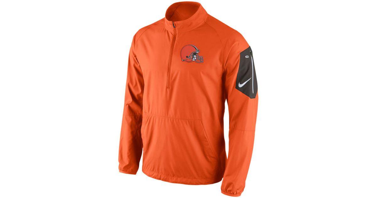 625819e8 Nike Orange Men's Cleveland Browns Lockdown Half-zip Jacket for men