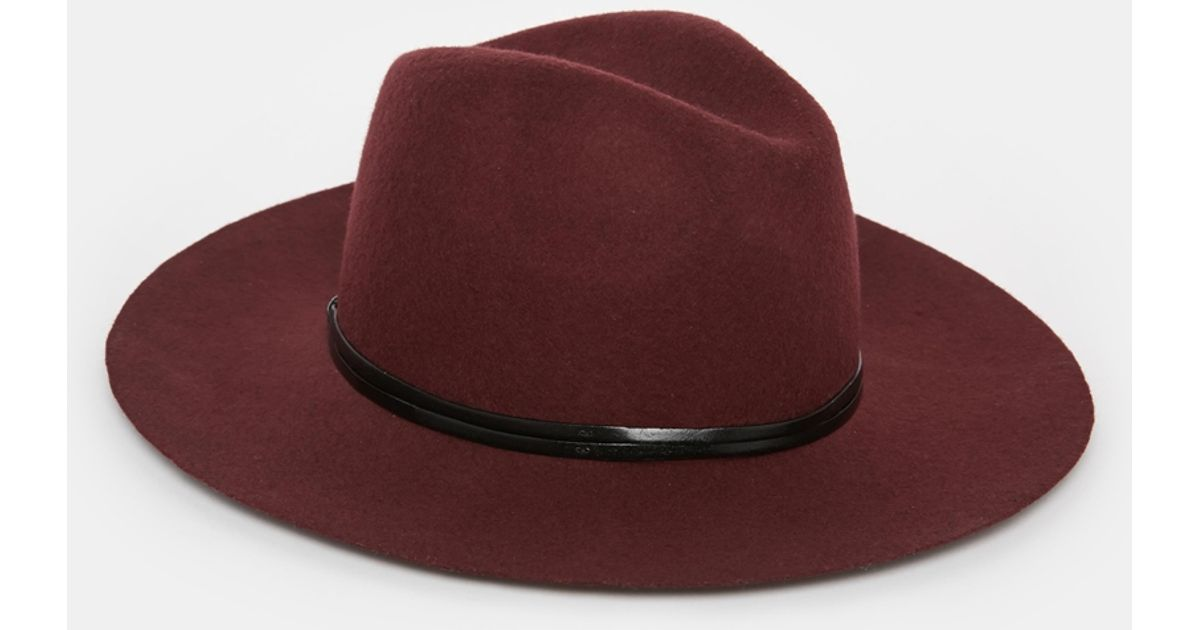 Lyst - Catarzi Wide Brim Unstructured Fedora Hat in Red for Men 3e19b7e7390