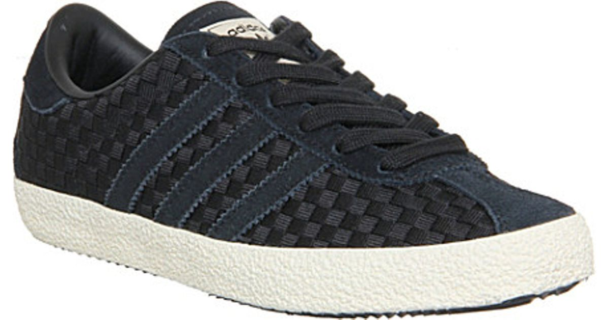 Adidas Black Gazelle 70s Woven Trainers - For Women