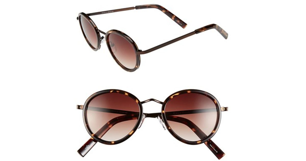 2d7b4ae55c2 Lyst - Cole Haan 48mm Round Sunglasses in Brown