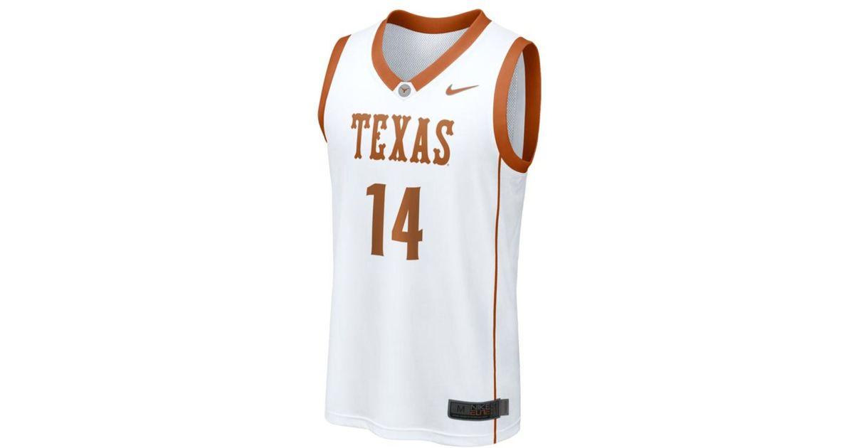 on sale d77ec 171ce Nike White Men'S Texas Longhorns Replica Basketball Jersey for men