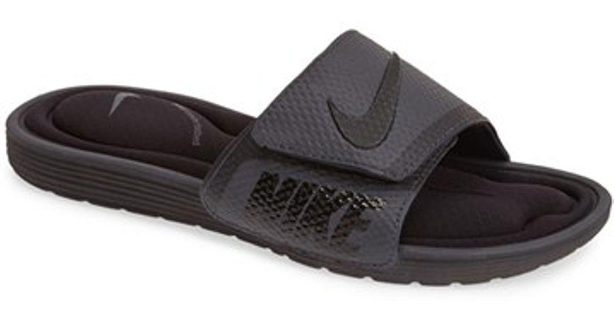 Nike Black 'solarsoft Comfort Slide' Sandal for men