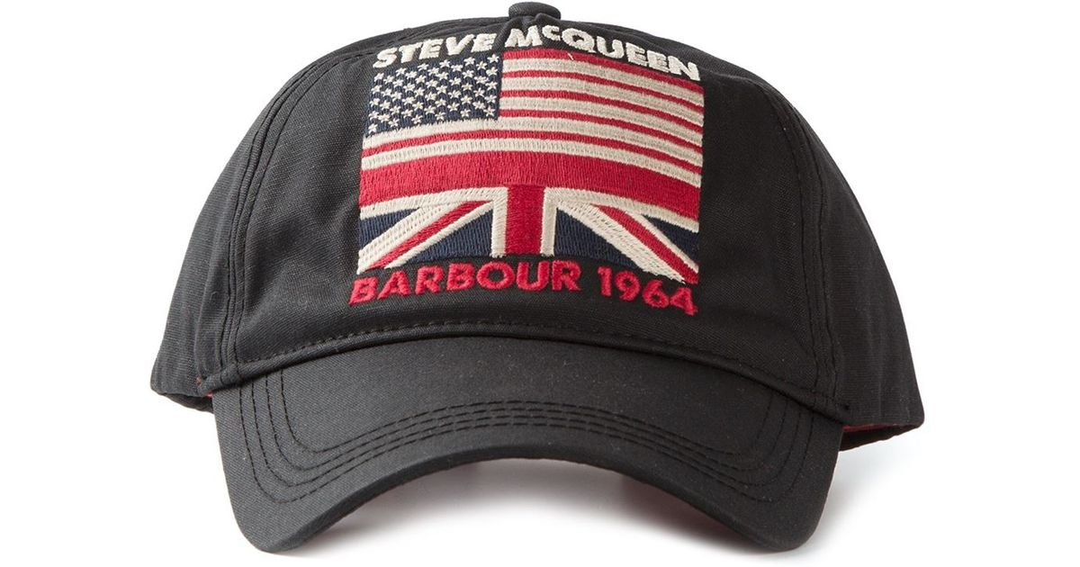 Lyst - Barbour Steve Mcqueen Usa Flag Cap in Black for Men 339f3bacd965