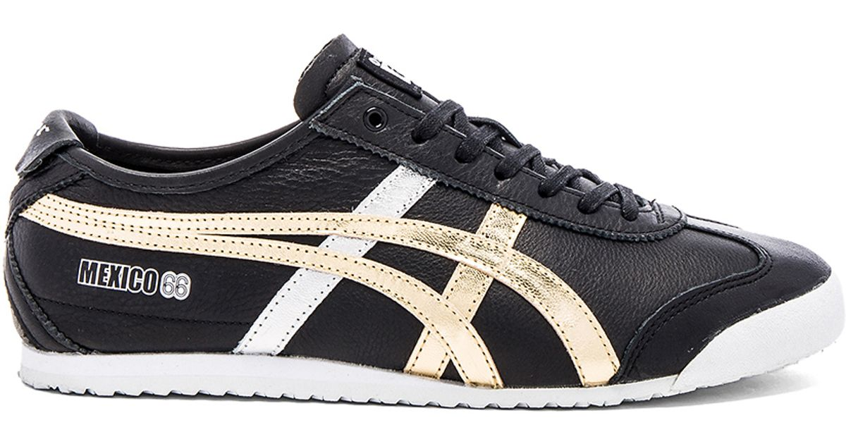 onitsuka tiger mexico 66 vin black dark grey metallic