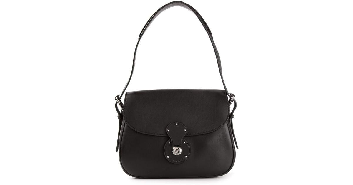 Lyst - Ralph Lauren Black Label Classic Saddle Bag in Black 73e236a5dbc16