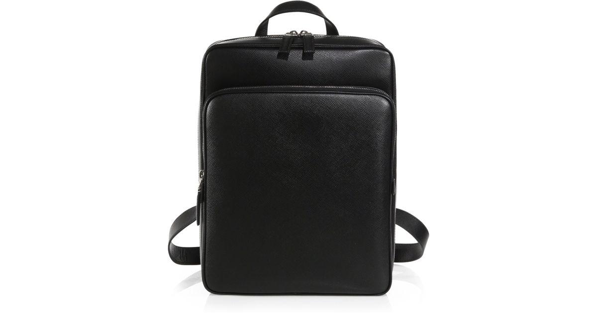 a4e383ef83 Prada Black Saffiano Cuir Backpack for men